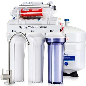 iSpring RCC7AK-UV Deluxe Undersink RO Drinking Water Filtration System – 7-Stage Undersink Reverse Osmosis System